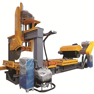 Kerbstone cutting machine line