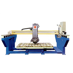 Tiltable bridge saw
