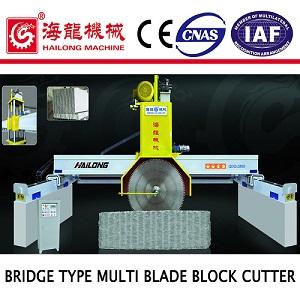 Bridge heavy multi-saws block cutting machine