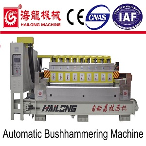 Automatic stone bushhammering machine