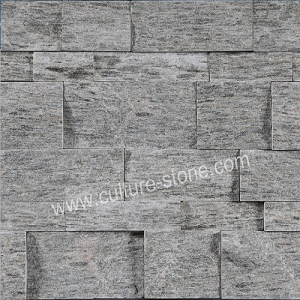 Black wood grain quartz thin ledgestone veneer