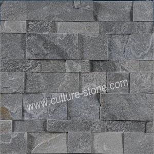 Grey quartz thin ledgestone veneer