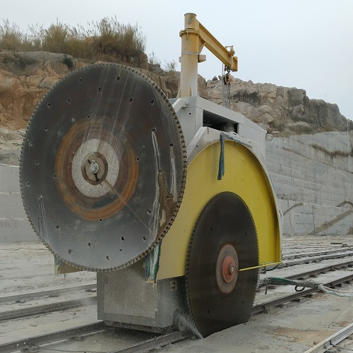 Double blade mining machine